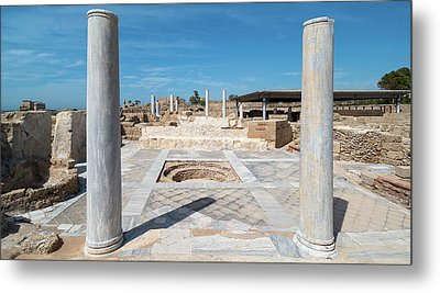 Columns In Archaeological Site Metal Print