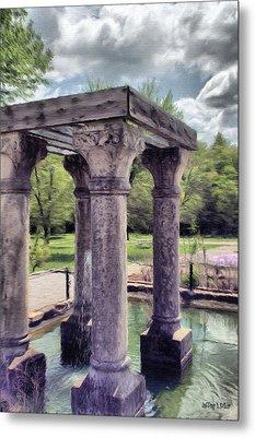 Columns In The Water Metal Print by Jeffrey Kolker