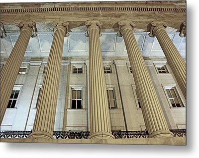 Metal Print featuring the photograph Columns Of History by Suzanne Stout