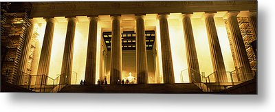 Columns Surrounding A Memorial, Lincoln Metal Print by Panoramic Images