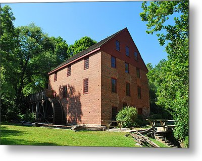Metal Print featuring the photograph Colvin Run Grist Mill by Bob Sample