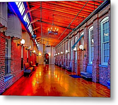 Interior  The Galleria Red Bank    Metal Print by Rick Todaro