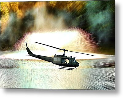 Combat Helicopter Metal Print by Olivier Le Queinec