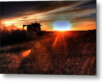 Combine Into The Night Metal Print
