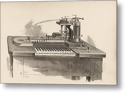 Combined Printer-telegraph Metal Print by King's College London