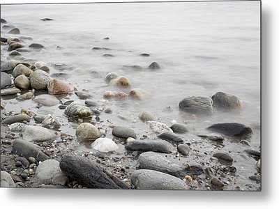 Metal Print featuring the photograph Combing The Beach by Andrew Pacheco