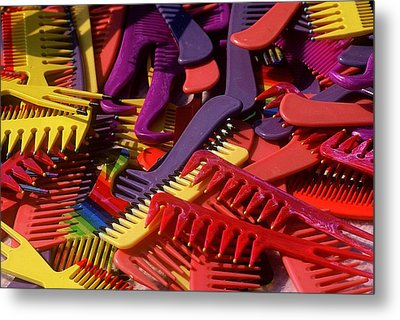 Metal Print featuring the photograph Combs by Rodney Lee Williams