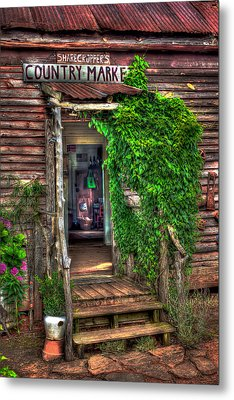 Sharecroppers Country Market Come Right In Metal Print by Reid Callaway