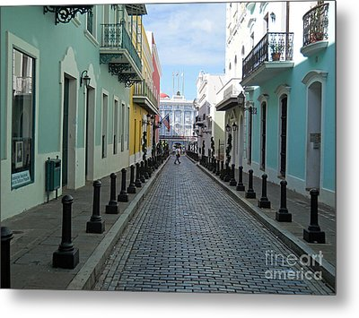 Metal Print featuring the photograph San Juan Puerto Rico by Roberta Byram