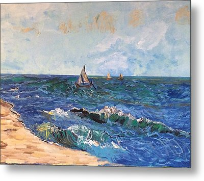 Come Sail With Me Metal Print by Belinda Low