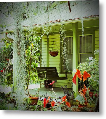 Come Sit Awhile Metal Print by Patricia Greer