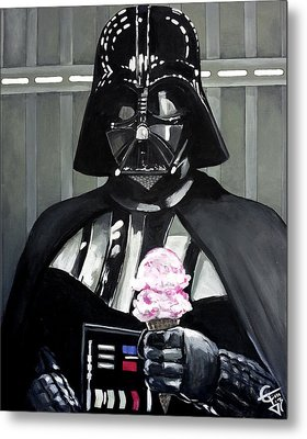 Come To The Dark Side... We Have Ice Cream. Metal Print by Tom Carlton