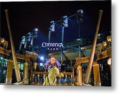 Comerica Park At Night  Metal Print by John McGraw