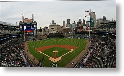 Comerica Park - Detroit Tigers Metal Print by Michael Rucker