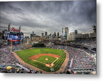 Comerica Park Home Of The Tigers Metal Print by Shawn Everhart
