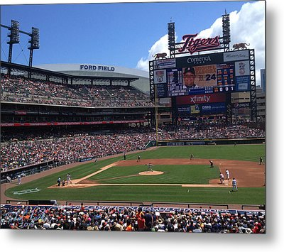 Comerica Park Metal Print by Michael Rucker