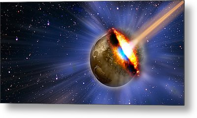 Comet Hitting Earth Metal Print by Panoramic Images