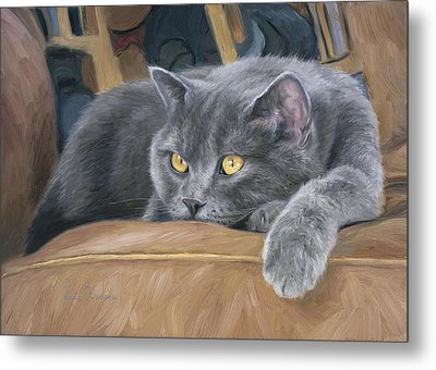 Comfortable Metal Print by Lucie Bilodeau