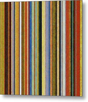 Comfortable Stripes V Metal Print by Michelle Calkins