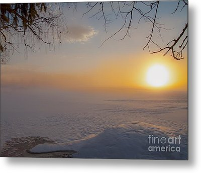 Metal Print featuring the photograph Comfortable Winter View by Rose-Maries Pictures