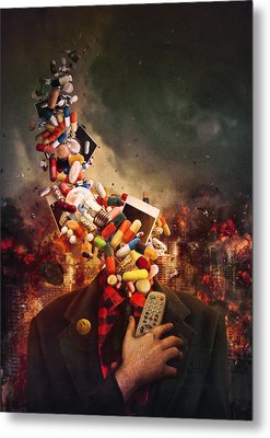 Comfortably Numb Metal Print by Mario Sanchez Nevado