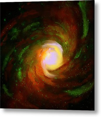 Metal Print featuring the digital art Comic Spiral by P Dwain Morris