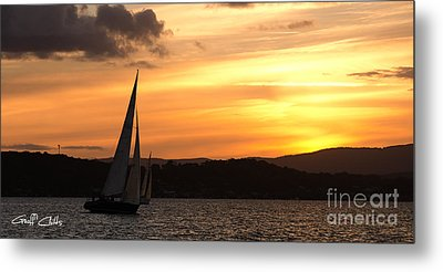 Coming Home .  Sunset Metal Print by Geoff Childs