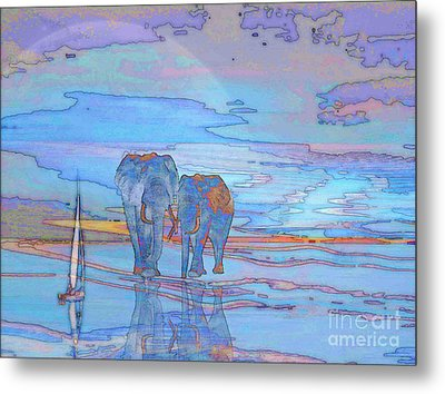 Coming Home From Sea Metal Print