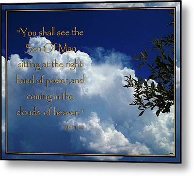 Coming In The Clouds Metal Print by Glenn McCarthy Art and Photography