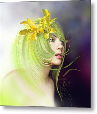 Coming Of Spring Metal Print by Anna Ewa Miarczynska