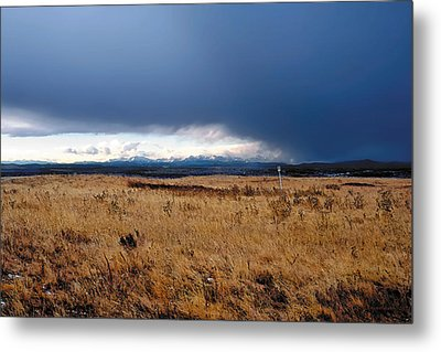 Coming Snow Metal Print by Terry Reynoldson