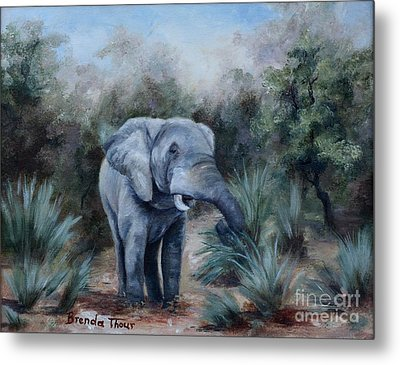 Metal Print featuring the painting Coming Through by Brenda Thour