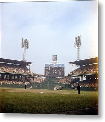 Comiskey Park Photo From The Outfield Metal Print by Retro Images Archive