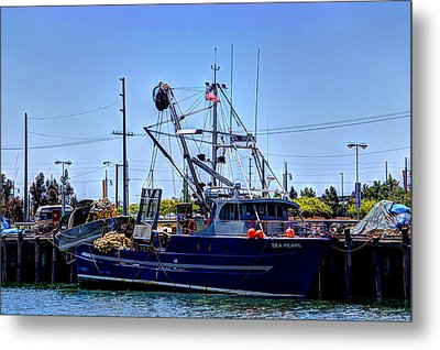 Commercial Fishing - Sea Pearl Metal Print by Heidi Smith
