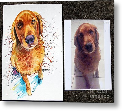 Commissioned Dog #1 Metal Print by Maria Barry