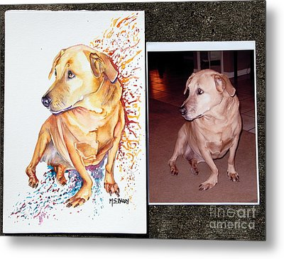 Commissioned Dog #2 Metal Print by Maria Barry