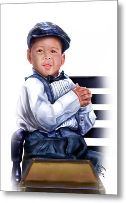 Commissioned - Handsome Baby Boy 1a Metal Print by Reggie Duffie