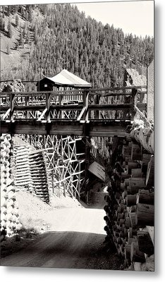 Metal Print featuring the photograph Commodore Ore Bins by Lana Trussell