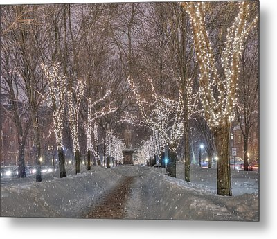 Commonwealth Ave Mall - Boston Metal Print