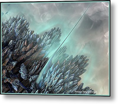 Metal Print featuring the digital art Communication Tower by Melissa Messick