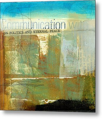 Communication With Metal Print by Jane Davies