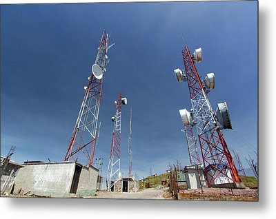 Communications Towers Metal Print by Dr Morley Read