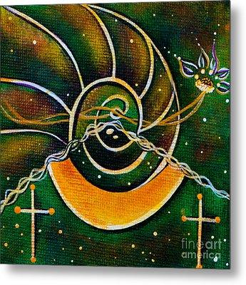Metal Print featuring the painting Communicator Spirit Eye by Deborha Kerr
