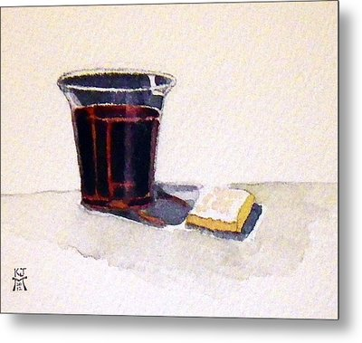 Metal Print featuring the painting Communion by Katherine Miller