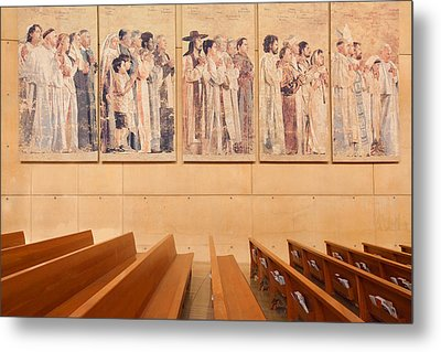 Metal Print featuring the photograph Communion Of Saints - Cathedral Of Our Lady Of The Angels Los Angeles California by Ram Vasudev