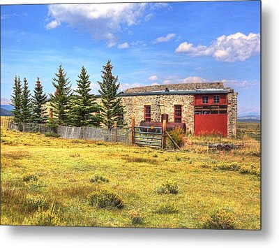 Como Roundhouse Metal Print by Lanita Williams