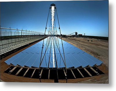 Compact Linear Fresnel Reflector Metal Print