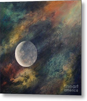 Companion Moon  Metal Print by Ursula Freer