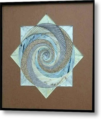 Metal Print featuring the mixed media Compass Headings by Ron Davidson