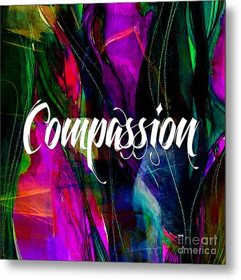 Compassion Wall Art Metal Print by Marvin Blaine